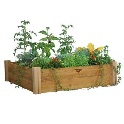 48 in. x 48 in. x 13 in. Modular Raised Garden Bed (Two Level)