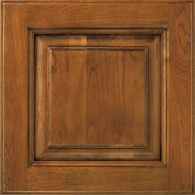 Plaza 14 1/2 x 14 1/2 in. Cabinet Door Sample in Cherry Whiskey Black
