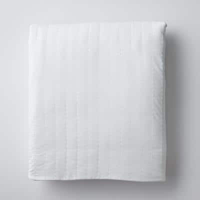 LaCrosse White Standard Quilted 15 lb. Weighted Blanket