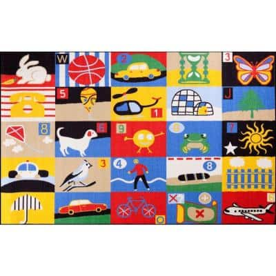Fun Time Every Day Multi 4 ft. x 6 ft. Area Rug