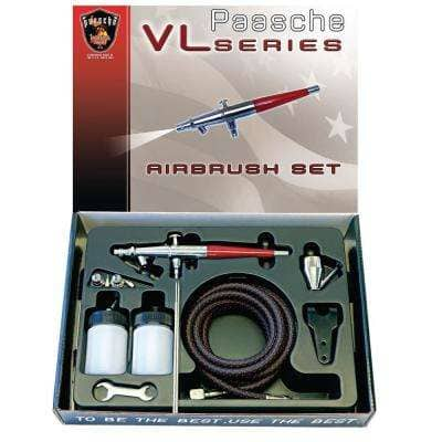 Double Action, Internal Mix, Siphon Feed Airbrush, Includes PTFE Packings and All 3 Available Spray Heads