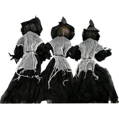 42 in. Light-Up Witches Halloween Prop