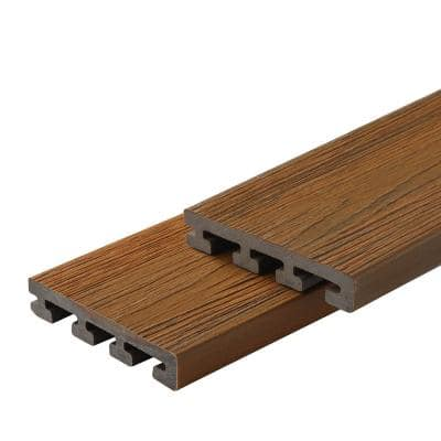 Infinity IS 1 in. x 6 in. x 8 ft. Oasis Palm Brown Composite Starter Deck Boards (2-Pack)
