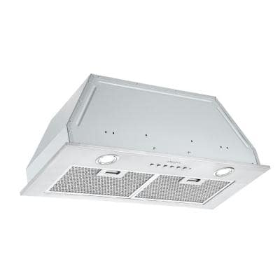 Inserta III 28 in. Ducted Insert Range Hood in Stainless Steel with LED and Night Light Feature