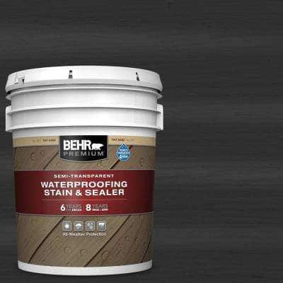 5 gal. #ST-102 Slate Semi-Transparent Waterproofing Exterior Wood Stain and Sealer