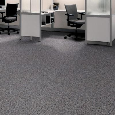 Central Park Charcoal Loop 19.7 in. x 19.7 in. Carpet Tile (20 Piece/Case)