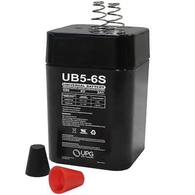 6-Volt 5 Ah S2 Terminal Sealed Lead Acid (SLA) AGM Rechargeable Battery