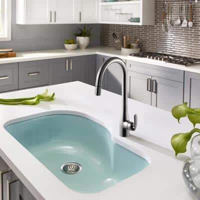 Cora Single-Handle Pull Down Sprayer Kitchen Faucet with CeraDox Technology in Oil Rubbed Bronze