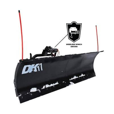 84 in. x 22 in. Heavy-Duty Universal Mount T-Frame Snow Plow Kit with Winch and Wireless Remote