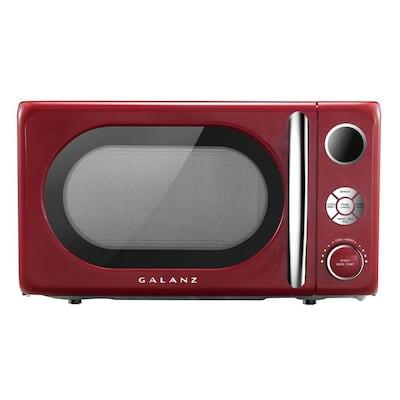 0.7 cu. ft. 700-Watt Countertop Microwave in Red, Retro