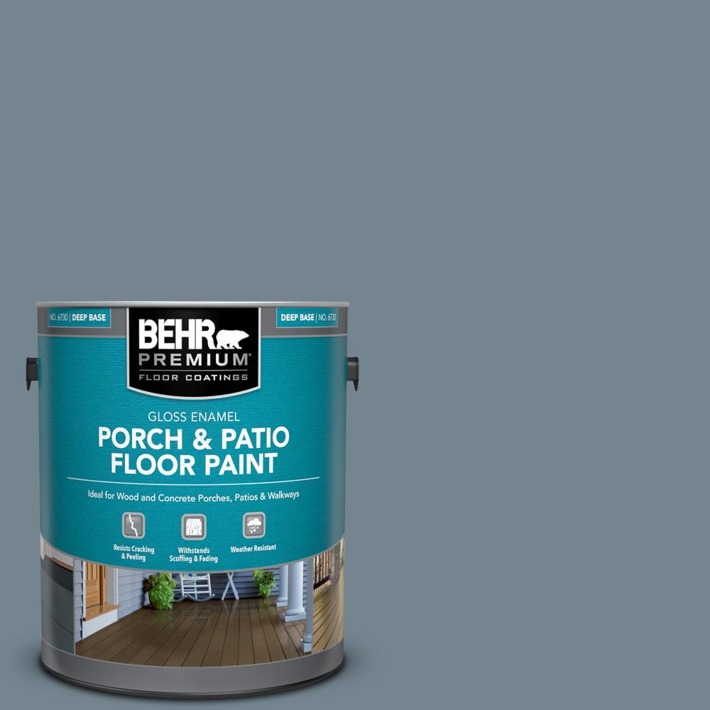 1 gal. #N480-5 Adirondack Blue Gloss Enamel Interior/Exterior Porch and Patio Floor Paint