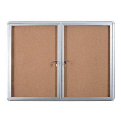 36 in. x 48 in. Enclosed Cork Bulletin Board With Aluminum Frame