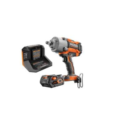 18-Volt OCTANE Cordless Brushless 1/2 in. High Torque 6-Mode Impact Wrench Kit w/ Belt Clip, 4.0 Ah Battery, and Charger