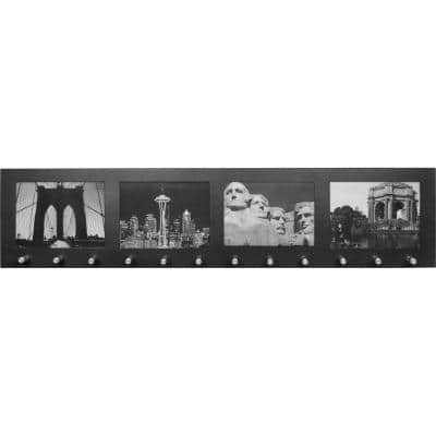 4 in. x 6 in. Picture Wall Mount Photo Frame with 12 Position Key Holder