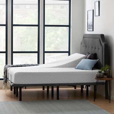 Deluxe Adjustable Bed and 10 in. Firm Gel Memory Foam Split King Mattress Set