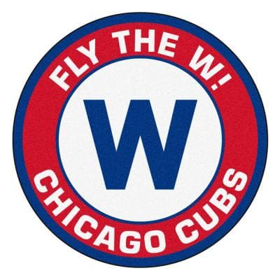 MLB - Chicago Cubs 27 in. Round Roundel Mat Area Rug