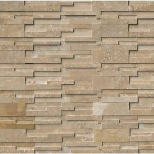 Durango Cream 3D Ledger Panel 6 in. x 24 in. Honed Travertine Wall Tile (10 cases / 80 sq. ft. / pallet)