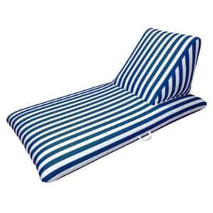 Morgan Dwyer Signature Series Pool Chaise Lounge - Navy Blue Luxury Fabric Swimming Pool Float
