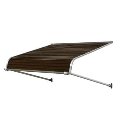6 ft. 1100 Series Door Canopy Aluminum Awning (12 in. H x 42 in. D) in Brown