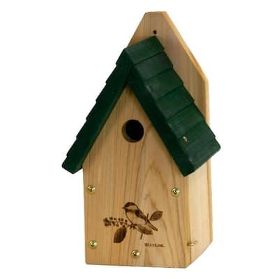 Garden Wren And Chickadee Bird House