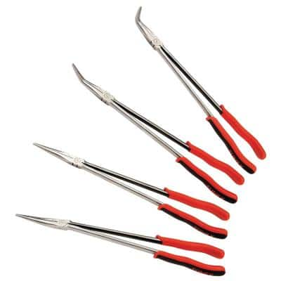 16 in. Extra Long Reach Needle Nose Pliers Set (4-Piece)