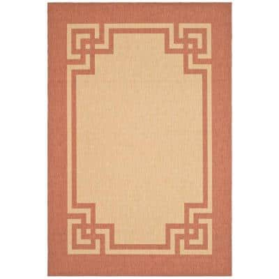 Martha Stewart Living Deco Frame Beige Terracotta 7 Ft X 10 Area Rug Msr4122j 6 The Home Depot