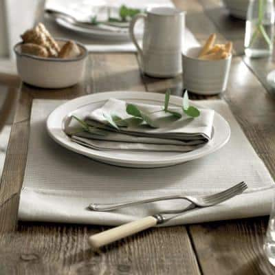 Natural Canvas White Salad Plate