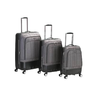 Milan Hybrid EVA/ABS 3-Piece Softside Luggage Set, Brown