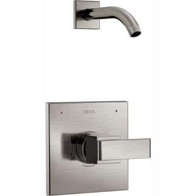 Ara 1-Handle Wall Mount Shower Faucet Trim Kit in Stainless (Valve and Showerhead Not Included)