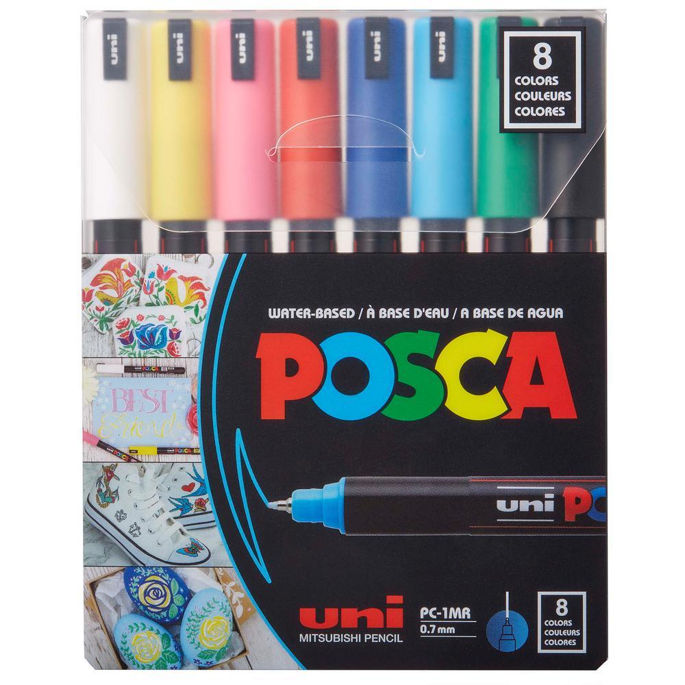 PC-1MR Ultra-Fine Tip Paint Pen Set (8-Colors)