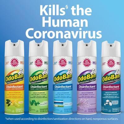 14.6 oz. Cotton Breeze Disinfectant Spray, Odor Eliminator, Sanitizer, Fabric and Air Freshener, Multi-Purpose Cleaner