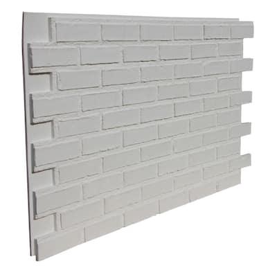 43.5 in. x 24 in. Polyurethane Interlocking Siding Panel in Coconut White