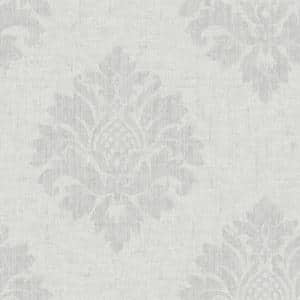 TextuRed Damask Grey Vinyl Strippable Roll (Covers 56 sq. ft.)