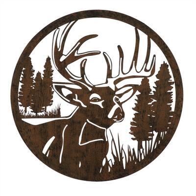 Lasercut Deer Outdoor Metal Wall Decor
