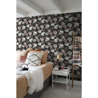 Contessa Blush Flowers Wallpaper Sample