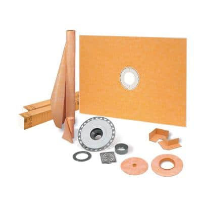 Kerdi-Shower-Kit 38 in. x 60 in. Shower Kit in PVC with Stainless Steel Drain Grate