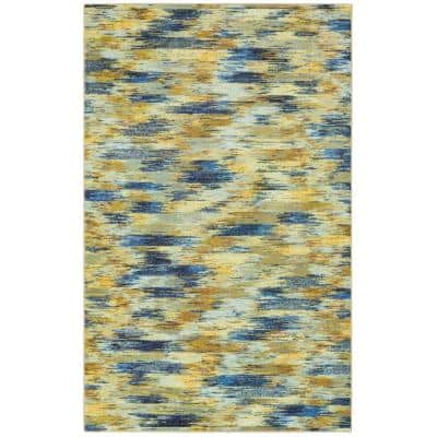 Warrick Tan 9 ft. x 12 ft. Abstract Area Rug