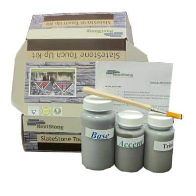4.5 in. x 2.5 in. Slatestone Interior/Exterior 8 oz. Faux Stone Touch Up Paint Kit Pewter