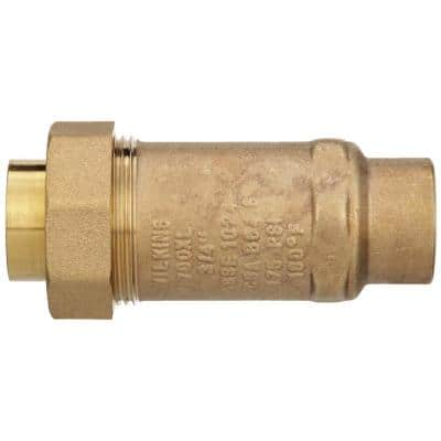 3/4 in. Female Union Inlet x 3/4 in. Female Outlet 700XL Dual Check Valve