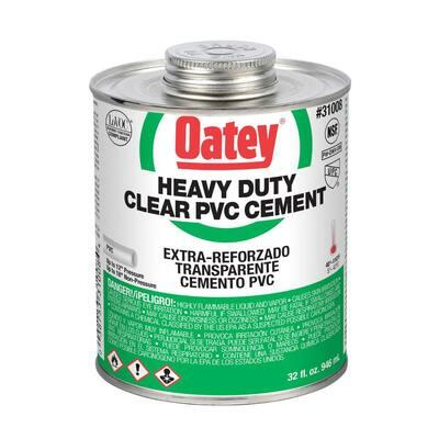 32 oz. Heavy-Duty Clear PVC Cement