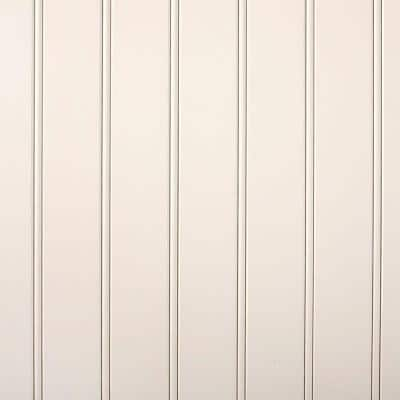 5.3 sq. ft. Five3 Beaded White Panel with SlipSeam Technology