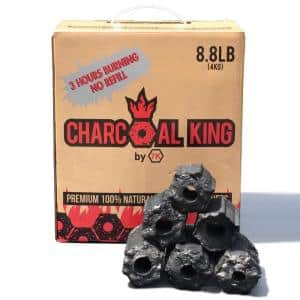 8.8 lbs. Charcoal Briquette Burns Over 3-Hours-Eco-Friendly Charcoal