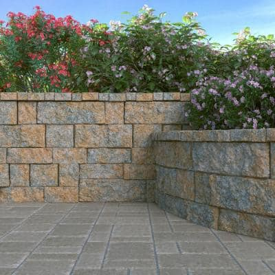 RockWall Small 4 in. x 11.75 in. x 6.75 in. Yukon Concrete Retaining Wall Block