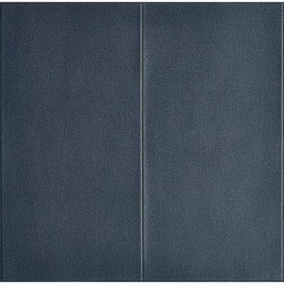 3D Embossed DarkBlue Texture LinenLook Vinyl Peel and Stick Wall Panel 28 in. x 28 in. / Piece (10-Piece)