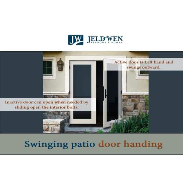 Jeld Wen 72 In X 80 In Primed Steel Left Hand Outswing Full Lite Glass Active Stationary Patio Door K30993 The Home Depot