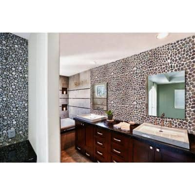 Red River Rock mosaic adds a dash of contemporary style