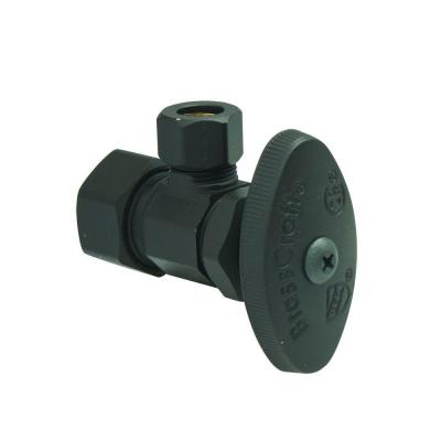 1/2 in. Comp Inlet x 3/8 in. Comp Outlet Multi-Turn Angle Valve in Oil Rubbed Bronze