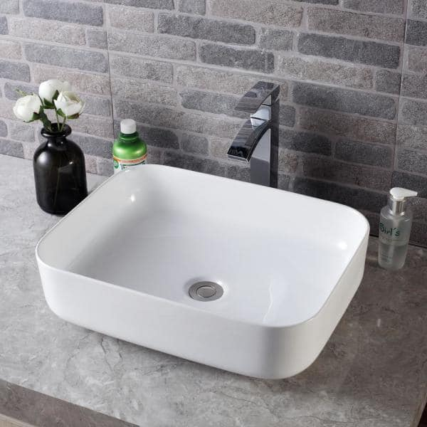 Lordear 15 In X Modern Square, Over Counter Bathroom Sink