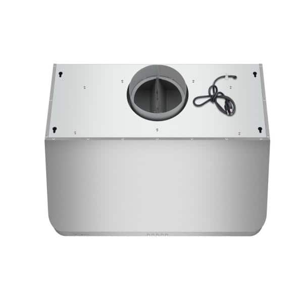 Empava 30 Under Cabinet Range Hood with Push Button Controls Dual Sealed Aluminum Motor Permanent Filters LED Lights in Stainless Steel 500CFM