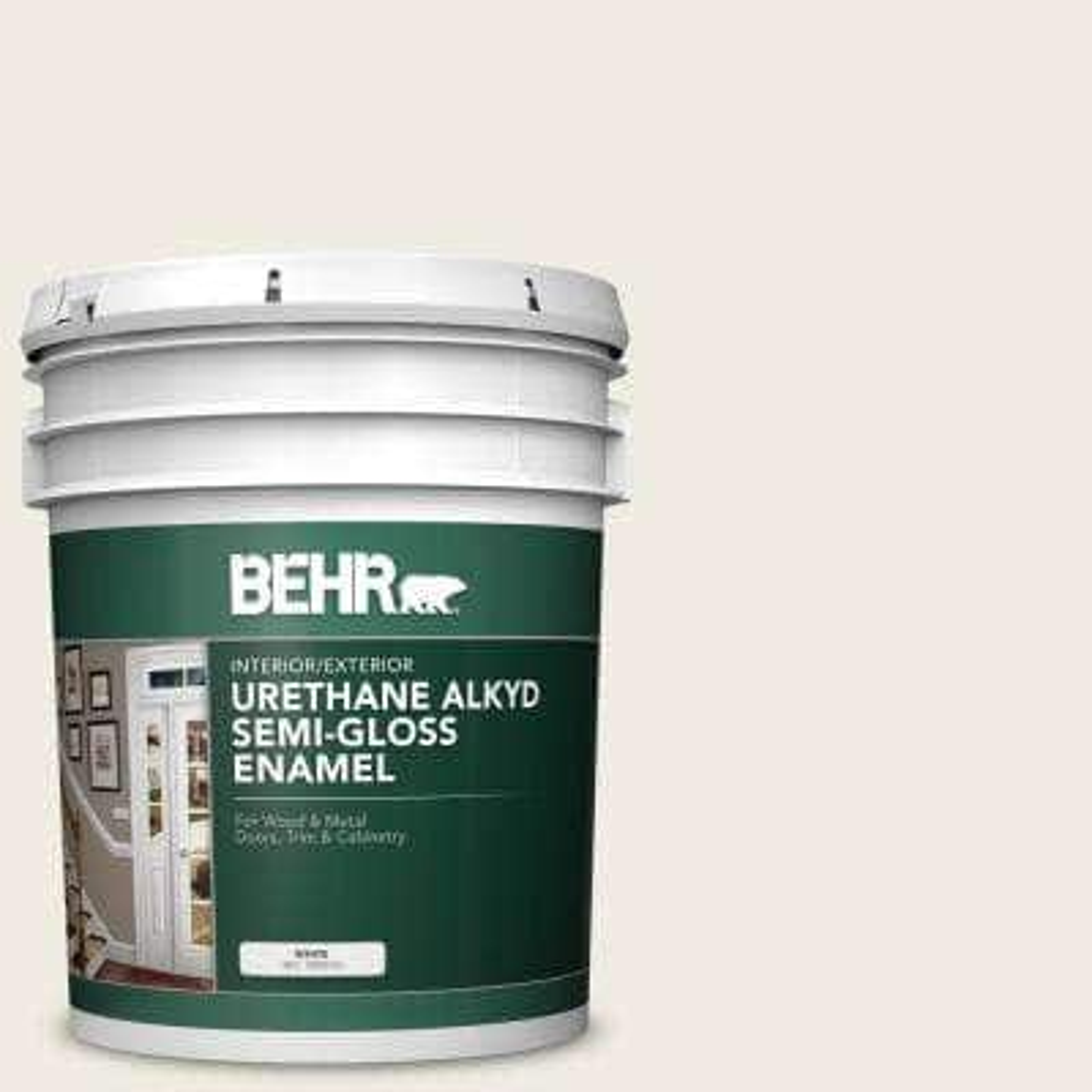 5 gal. #AE-250 Swiss Coffee Urethane Alkyd Semi-Gloss Enamel Interior/Exterior Paint
